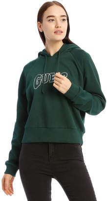 GUESS Logo Crop Hoodie