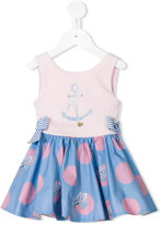 Lapin House - anchor polka dot print dress - kids - Cotton/Spandex/Elastane - 18 mth