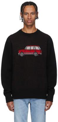 Leon Aime Dore Black Knit Car Sweater