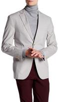 JKT NEW YORK Newton Tan Houndstooth Two Button Notch Lapel Jacket