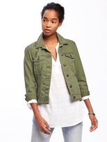 Old Navy Olive-Green Denim Jacket for Women