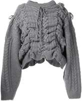Y/Project distressed chunky-knit jumper