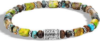 John Hardy Men's Classic Chain Sterling Silver & Turquoise Bead Bracelet