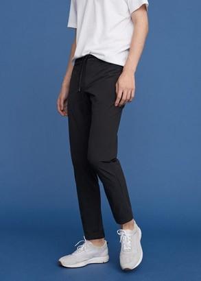 MANGO MAN - Elastic waist pants black - 36 - Men