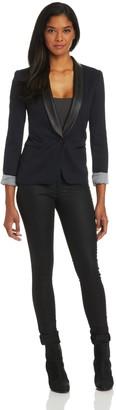 James Jeans Women's Ponte Combo Tuxedo Blazer