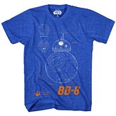 Star Wars Men's BB 8 Plans T-Shirt