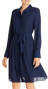 nanette Nanette Lepore Belted Pintuck Shirtdress