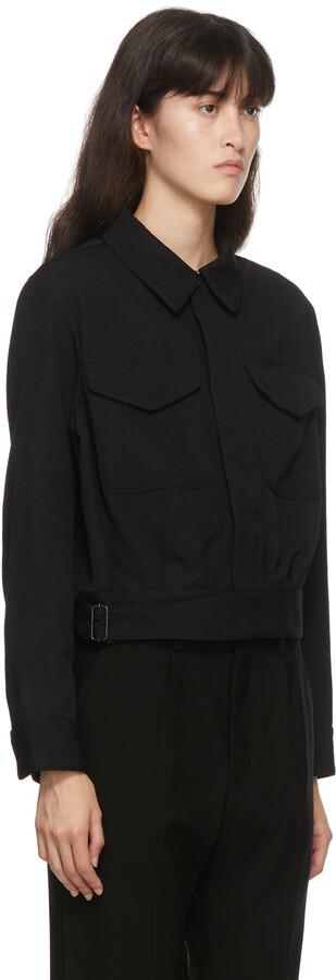 Thumbnail for your product : Regulation Yohji Yamamoto Black Gabardine Wool Military Jacket