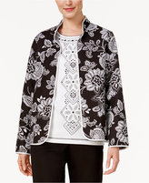Alfred Dunner Petite City Life Quilted Reversible Floral Jacket