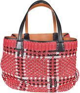 Ermanno Scervino Woven Shopper Bag From Multicolor Woven Shopper Bag With Top Handles, Open Top And Front Logo Plaque.