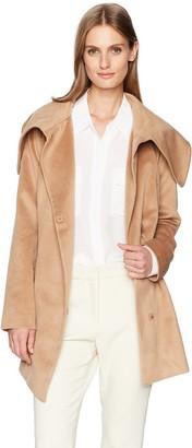 BB Dakota Women's Henry Asymetrical Brushed Wool-Like Coat