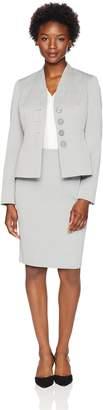 Le Suit Lesuit LeSuit Women's Petite Texture 3 Button Skirt Suit