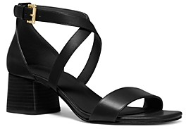 MICHAEL Michael Kors Women's Diane Cross Strap Mid Heel Sandals