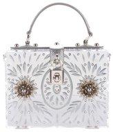 Dolce & Gabbana 2015 Mirrored Metal Flower Cut Out Box Bag