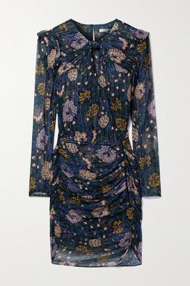Veronica Beard Peppa Floral-print Fil Coupe Silk-blend Chiffon Mini Dress - Black