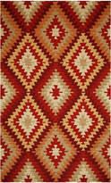 Momeni Rugs Burgundy & Taupe Geometric Rug