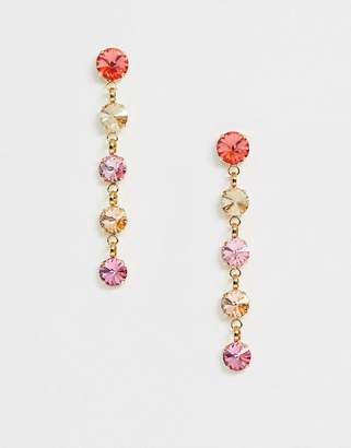 Swarovski Krystal London Crystal graduated drop Earrings-Multi