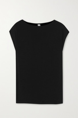 Varley Emmet Cutout Stretch-bamboo T-shirt - Black