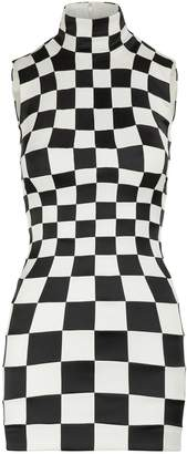 Balenciaga 3D Check short dress