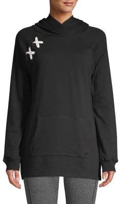 Andrew Marc Laced Hooded Sweatshirt