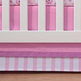 BreathableBaby Breathable Baby Pink Mist Stripe Crib Skirt by Breathable Baby