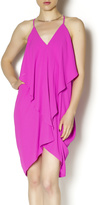 Olivaceous Pink Flowy Dress