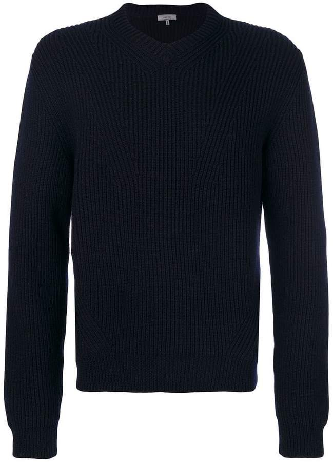 Lanvin ribbed V-neck jumper