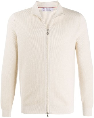 Brunello Cucinelli Cashmere Zipped Cardigan