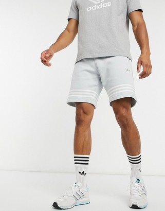 adidas outline stripe shorts in gray