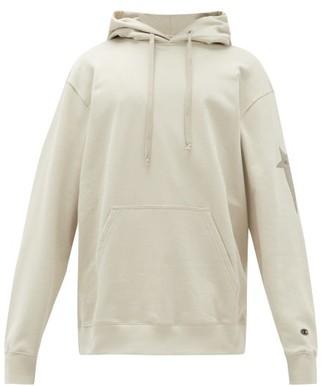 Rick Owens X Champion Cotton-blend Hooded Sweatshirt - Beige