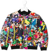 DSQUARED2 character print bomber jacket
