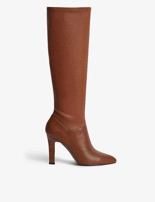 Reiss Cresida knee-high leather boots