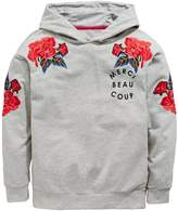 Very Floral Embroidered Detail Hoodie