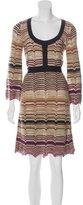 M Missoni Wool Chevron Dress