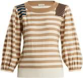 Sonia Rykiel Striped-intarsia wool sweater