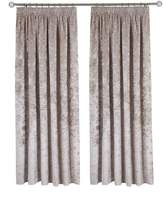 Very Made to Measure Luxury Crushed Velvet Pleated Curtains – Ivory