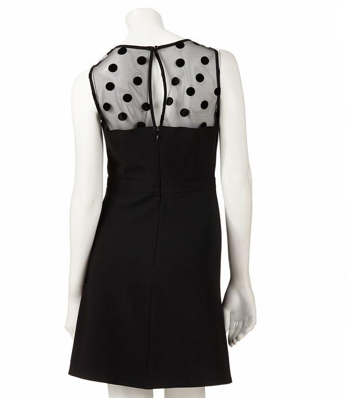 Lauren Conrad dot fit & flare dress - women's