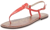 Sam Edelman Gigi Embossed Leather Thong Sandal