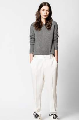 Zadig & Voltaire Cici Cachemire Patch Sweater