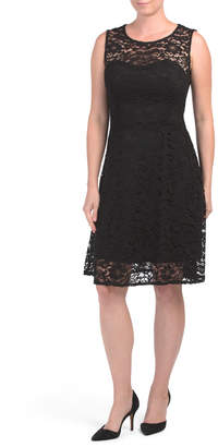 Fit N Flare Lace Cocktail Dress