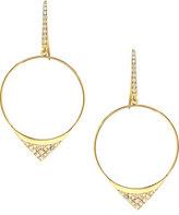Lana Small Electric Diamond Hoop Earrings