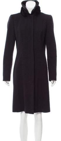 Andrew Gn Wool Mink-Trimmed Coat