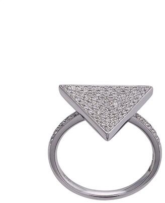 Anita Ko 18kt White Gold Triangle Diamond Ring