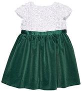 Florence Eiseman Flutter & Sequin Dress w/ Velvet Skirt, Size 7-10