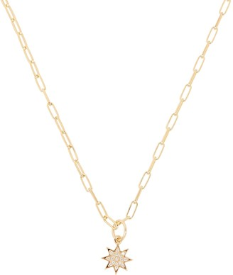 ela rae Crystal Star Chain Link Necklace