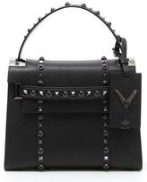 Valentino 'My Rockstud - Rolling Noir' Calfskin Leather Satchel - Black