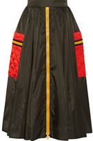 Prada Gabardine Midi Skirt - Army green