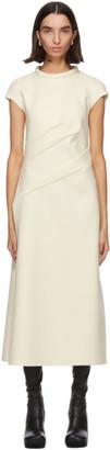Sportmax Off-White Wool Taglio Long Dress