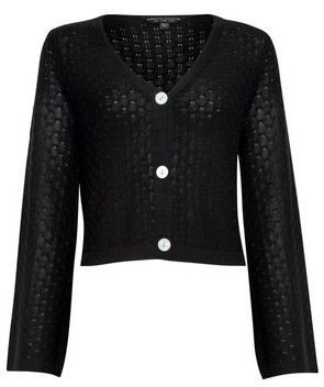 Dorothy Perkins Womens Navy Pointelle Crop Cardigan