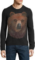 Gucci Embroidered Bear-Head Sweater